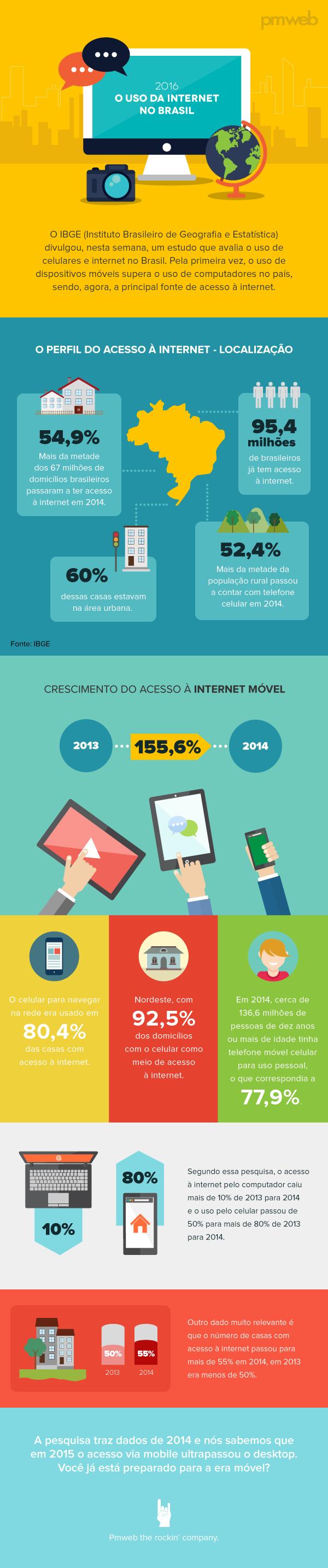 Infográfico - Internet no Brasil